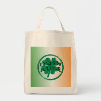 Irish Rule - Ireland Colors and Shamrock Tote Bags