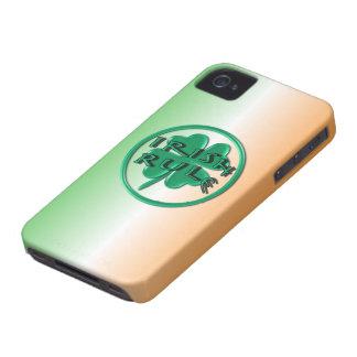 Irish Rule - Ireland Colors and Shamrock iPhone 4 Case