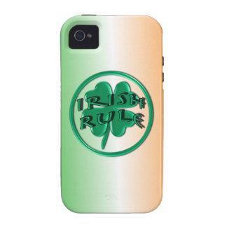 Irish Rule - Ireland Colors and Shamrock Case For The iPhone 4