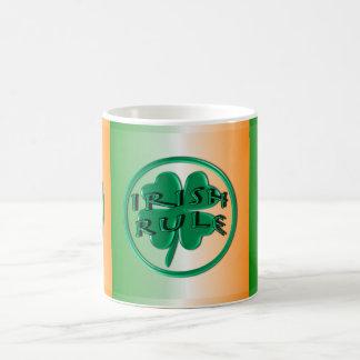 Irish Rule - Ireland Colors and Shamrock Classic White Coffee Mug