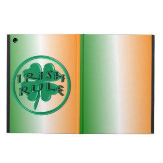 Irish Rule - Ireland Colors and Shamrock iPad Air Cover