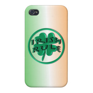 Irish Rule - Ireland Colors and Shamrock Cases For iPhone 4