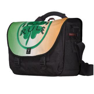 Irish Rule - Ireland Colors and Shamrock Laptop Bag