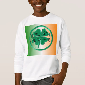 Irish Rule - Ireland Colors and Shamrock T-Shirt