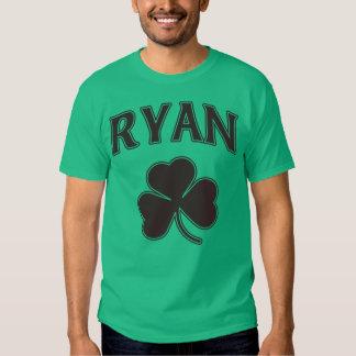 Irish Ryan Family Heritage Shamrock T Shirt