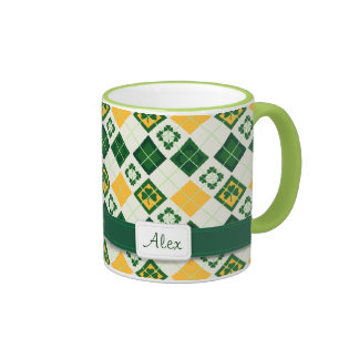 Irish Saint Patrick's Day pattern Ringer Mug