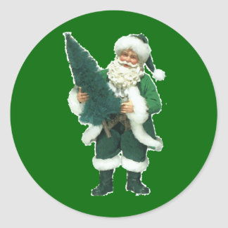 Irish Santa Classic Round Sticker