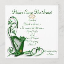 Irish Save the date for Wedding, Harp