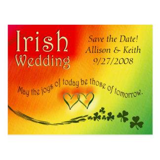 Irish Save the Date Wedding Postcard