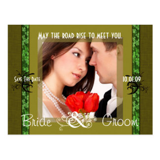 Irish Save The Date with Your Photo Postcard