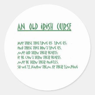 Irish Saying Classic Round Sticker