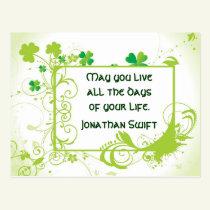 Irish Saying St. Patrick's Day Postcard