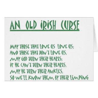 irish saying stationery note card