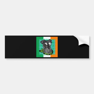 IRISH SCHNAUZER BUMPER STICKER