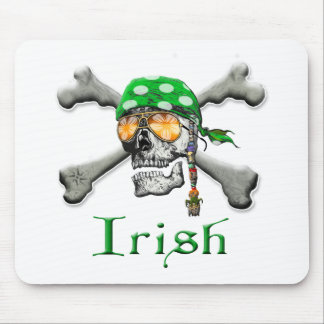 Irish Scull and Cross Bones Mouse Pad