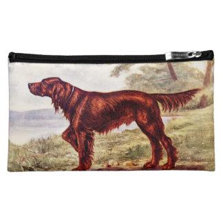 Irish Setter 1900 Illustration of Sporting Dog Makeup Bag