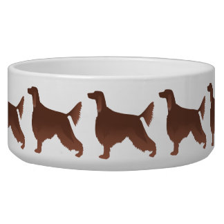 Irish Setter Basic Breed Illustration Silhouette Bowl