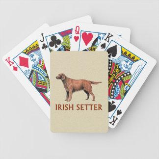 irish setter bicycle playing cards