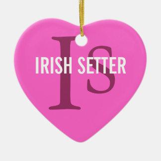 Irish Setter Breed Monogram Ornaments