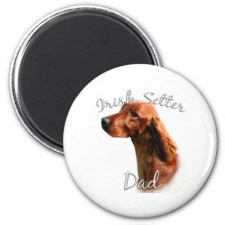 Irish Setter Dad 2 2 Inch Round Magnet