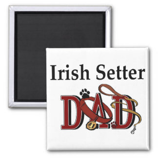 Irish Setter Dad Gifts 2 Inch Square Magnet