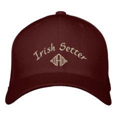 Irish Setter Dad Gifts Embroidered Baseball Cap at Zazzle