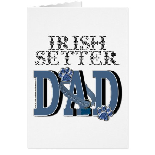 Irish Setter DAD Greeting Cards