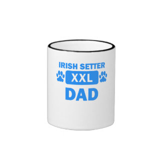 Irish Setter Dad Ringer Coffee Mug