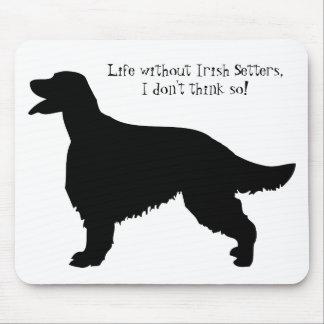 Irish Setter dog, black silhouette mousepad, gift Mouse Pad
