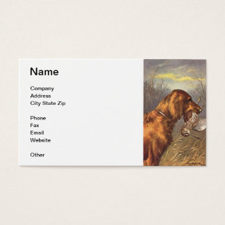 Irish Setter Dog Business Card