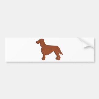 Irish Setter Dog Car Bumper Sticker