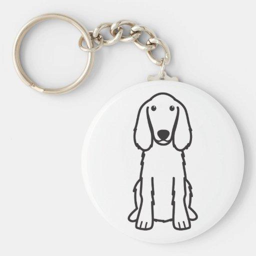 Irish Setter Dog Cartoon Keychain