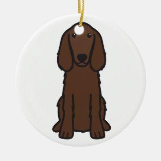 Irish Setter Dog Cartoon Christmas Tree Ornaments