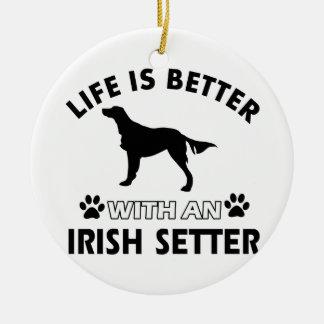 Irish Setter dog designs Ornament