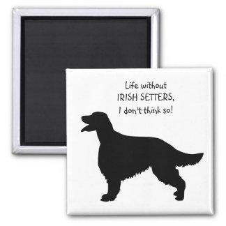Irish Setter dog, life without setters magnet
