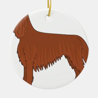 Irish Setter Dog Christmas Ornament