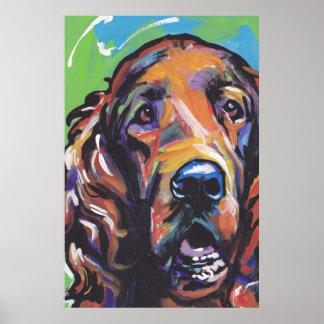 Irish Setter Dog Pop Art Print Poster