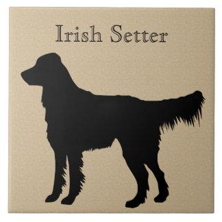 Irish Setter Dog Silhouette Tile