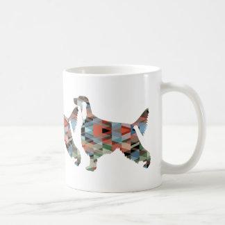 Irish Setter Geometric Pattern Black Silhouette Coffee Mug