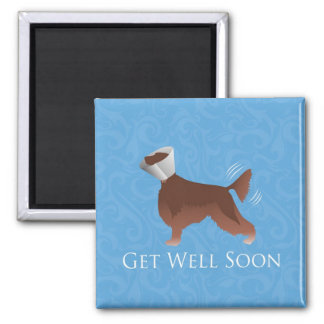 Irish Setter Get Well Soon Silhouette Dog in Cone Magnet