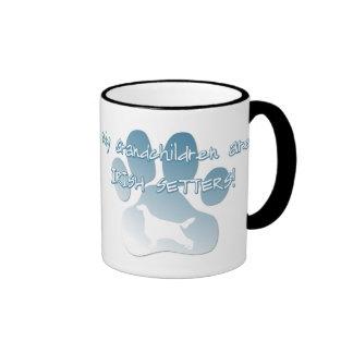 Irish Setter Grandchildren Ringer Coffee Mug