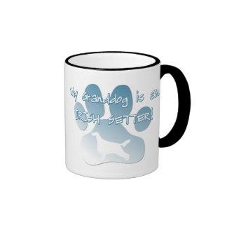 Irish Setter Granddog Ringer Coffee Mug