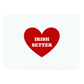 "Irish Setter Invitación 5"" X 7"""