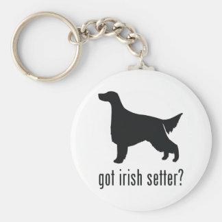 Irish Setter Llavero Redondo Tipo Pin