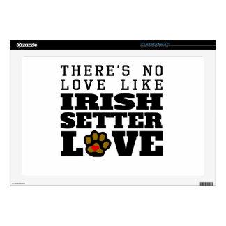 Irish Setter Love Laptop Decals