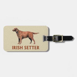 irish setter tag for luggage
