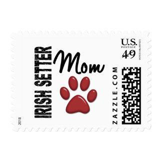 Irish Setter Mom 2 Postage Stamp