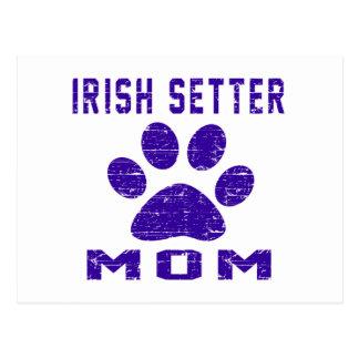 Irish Setter Mom Gifts Designs Postcards