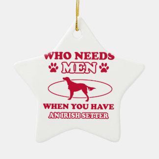 irish setter mommy design christmas tree ornaments