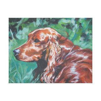Irish Setter  Painting on Stretched Canvas Canvas Print